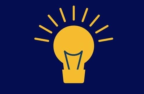 yellow glowing light bulb
