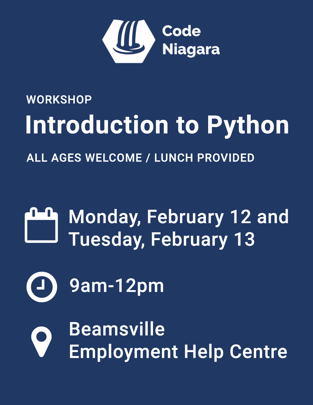 Introduction to Python Workshop Flyer