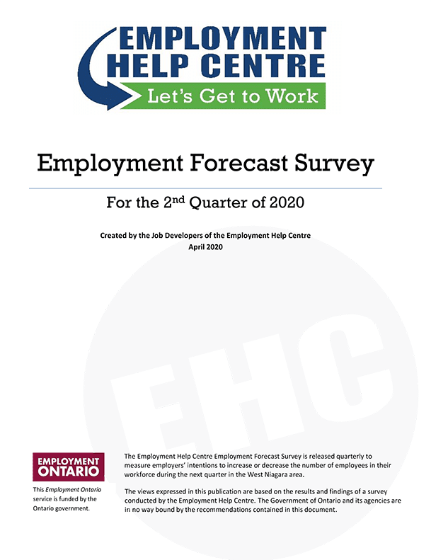 EHC Employment Forecast Survey Results for the 2nd Quarter of 2020