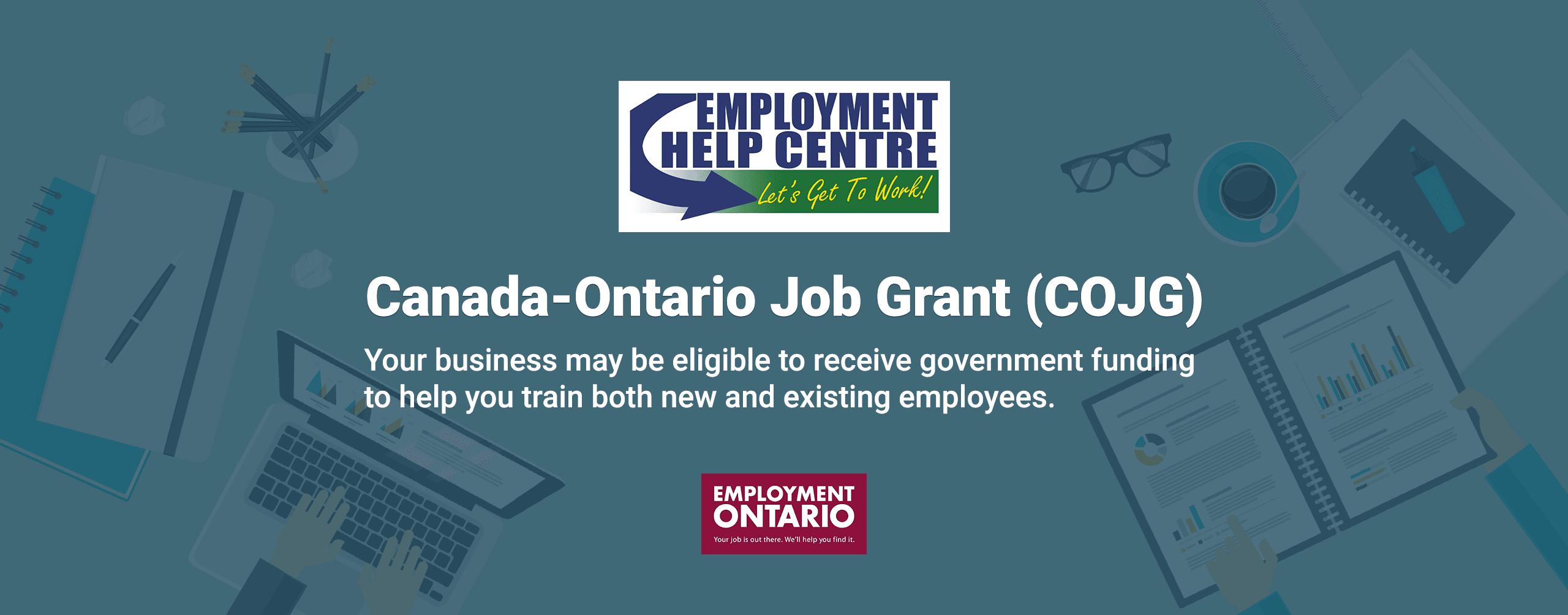COJG - Canada-Ontario Job Grant - Train Your Employees